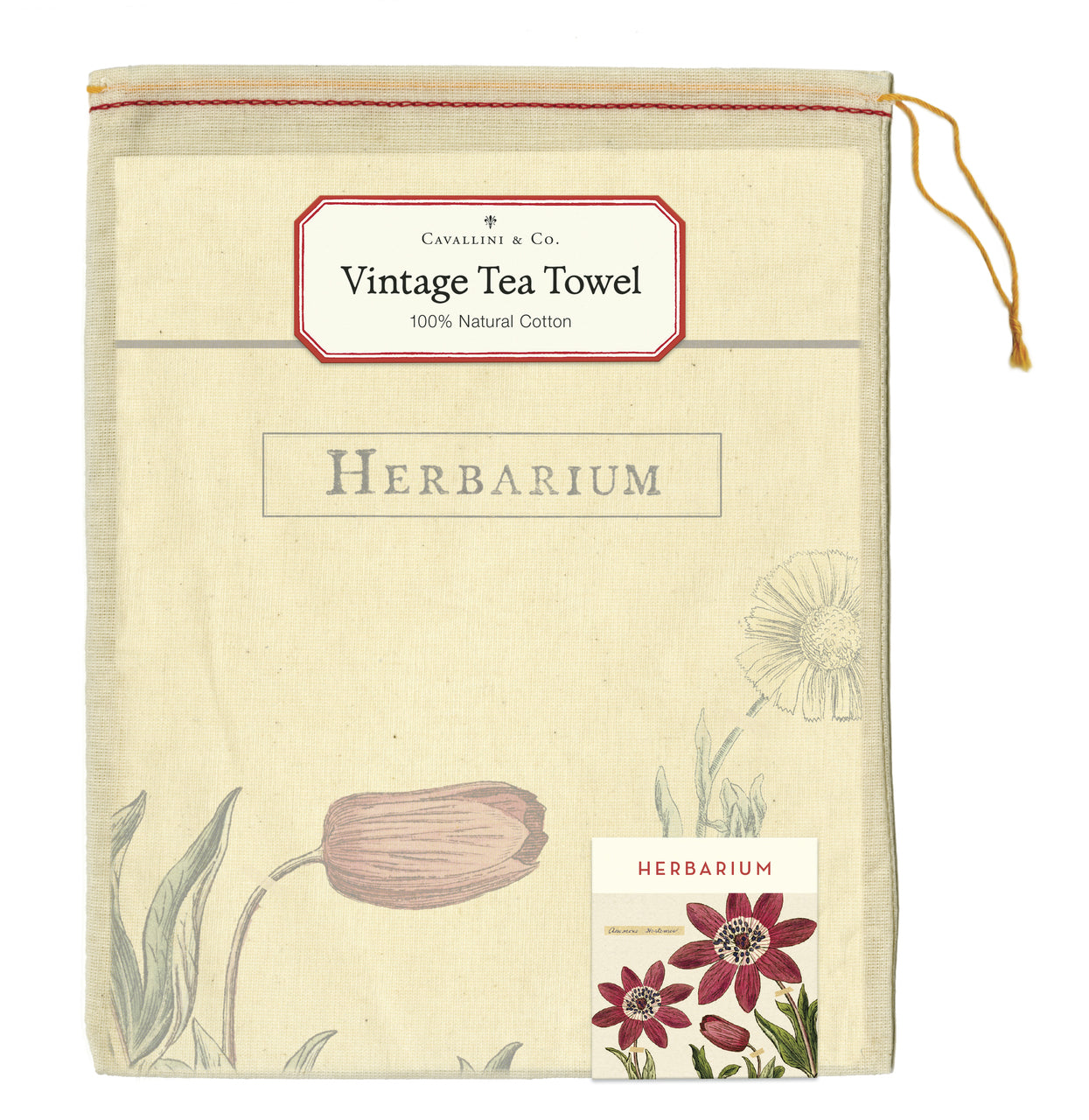 Tea towels come packaged in a hand- sewn muslin bag, making them the perfect gift.