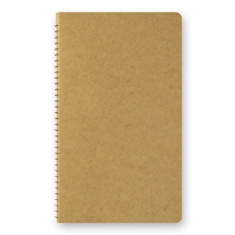 Traveler's Company Spiral Ring Blank Kraft Paper Notebook measures approximately 8 by 5 inches (H218 x W130 x D18mm) so it will easily fit in any travel bag.