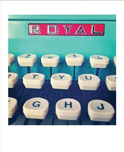 Royal typewriters are featured in the Typewriter Notes card set.