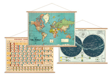 Cavallini Vintage Poster Kit- Horizontal- perfect for hanging any Cavallini & Co. horizontal wrap.