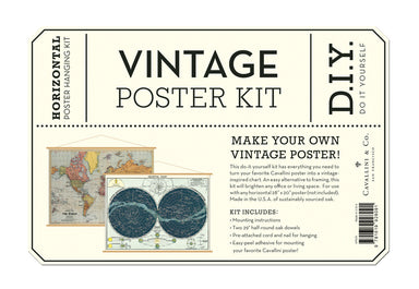 Cavallini & Co. horizontal vintage poster kit instructions.