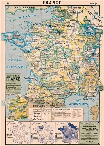 Cavallini & Co. France Map 2 Decorative Paper