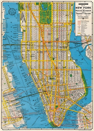 Cavallini & Co. New York City Map Decorative Paper
