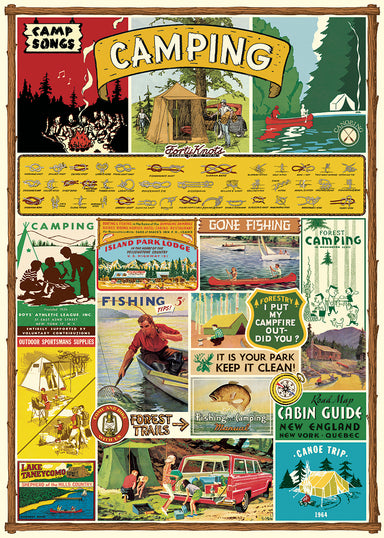Get ready to go camping with Cavallini's Camping Decorative Wrap.