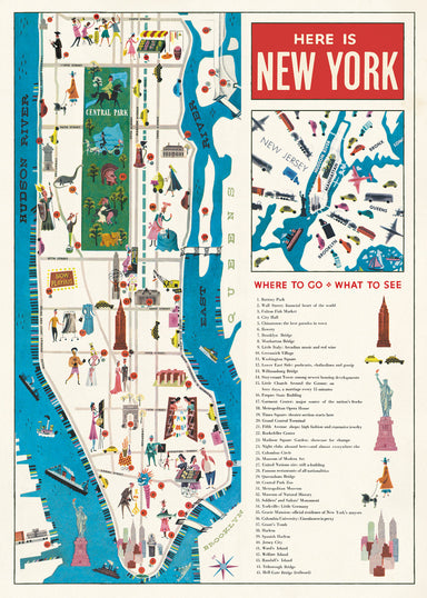 Another way to celebrate the city that never sleeps- the Cavallini New York Map 5 Decorative Wrap!