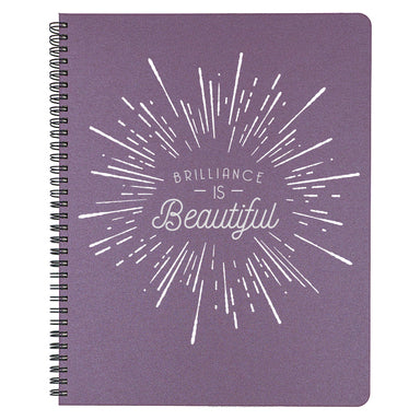 Brilliance IS Beautiful and we don't want you to forget. Plum colored large cover.