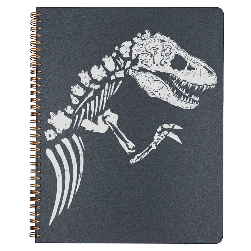 Large T-Rex Spiral Bound Notebook in black.