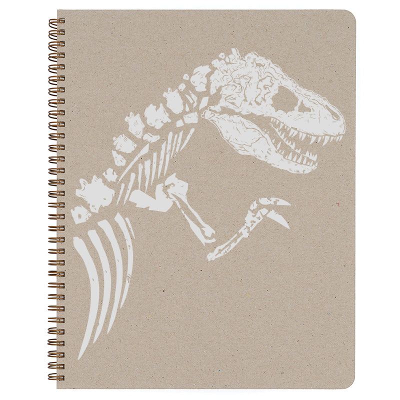 Large T-Rex Spiral Bound Notebook in natural.