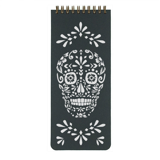 Inspired by Dia de Los Muertos sugar skulls from Mexico. Use this flowery skull list pad to help you get things accomplished.