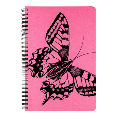 This notebook is printed in black ink on the cover color of your choice.