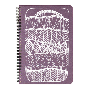 Plum cover of Enchanted Forest small spiral bound notebook.