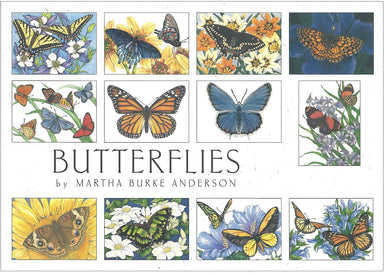 Crane Creek Graphics Butterflies notecard folio features colorful and bright butterflies. Inside you will find swallowtails, monarchs, buckeyes, and many more.