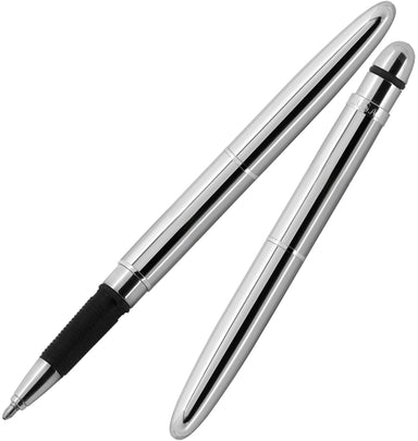 Fisher Bullet Space Pen- Chrome Grip- the classic Fisher Bullet Space Pen look with a rubberized grip.