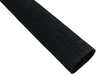 Black heavyweight Italian crepe paper in 180 gram weight.