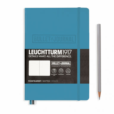 Leuchtturm1917 Bullet Journal Medium (A5) Hardcover journal with Nordic Blue cover.