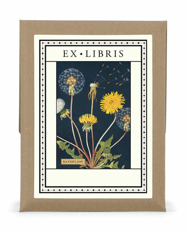 Cavallini & Co. Dandelion Bookplates are a lovely addition to your library.