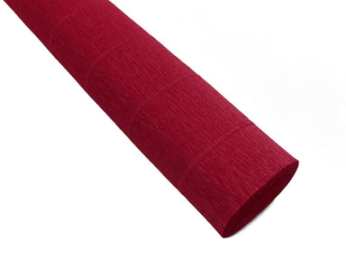 "Heavyweight Italian crepe paper is perfect for paper flowers. ""Coral"" has pink tones."