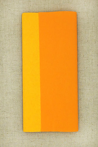 Double Sided Crepe Paper- Yellow and Apricot