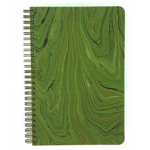 Green Marbled Make My Notebook spiral bound notebook.