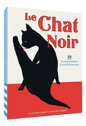Wander (and nap) along the streets and in the homes of France with the cute and curious le chat noir,