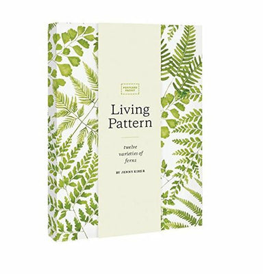 Living Pattern Postcard packet- An all-occasion postcard, these lush green fern prints are perfect for correspondence or quick notes.