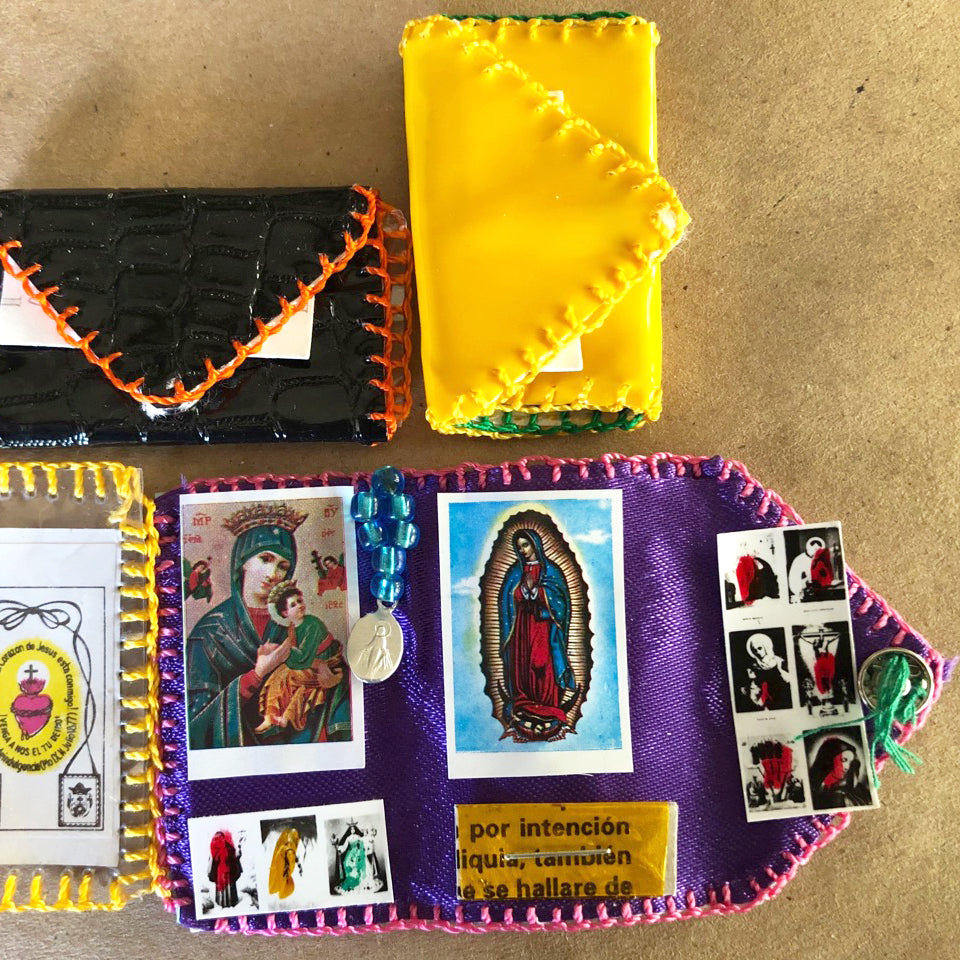 Hand Stitched Pocket Altar Class inspiration from traditional pocket altars