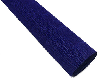 Heavyweight Italian crepe paper in a deep, rich Midnight Blue color.