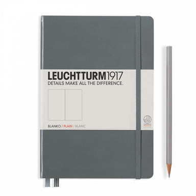 Leuchtturm1917 Plain A5 Size Notebook- Anthracite