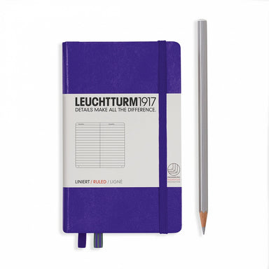 Leuchtturm1917 RULED A6 Pocket Size Notebook- Purple