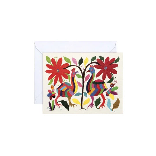 Otomi Embroidered Textile Art Notecards