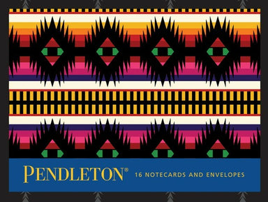 Pendleton Notecards - 16 folded notecards and envelopes- a colorful classic notecard set showcases the geometric designs of Pendleton's most enduring textile patterns.