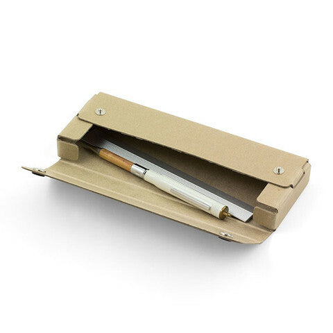 Pen case will hold about 6-8 pens or pencils, depending on their diameter.
