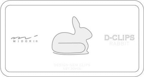 Enjoy these fun Midori D-Clips in the shape of a rabbit.  Box contains 30 clips in a single design.