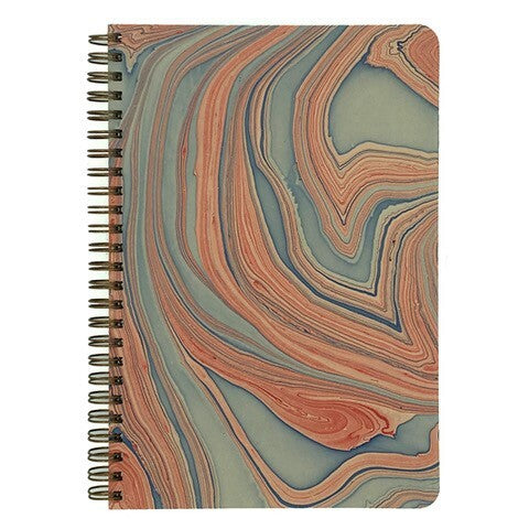 Red Marbled Make My Notebook spiral bound notebook.