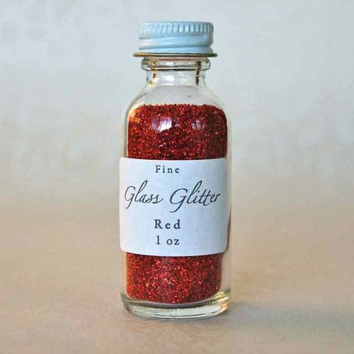 Glass Glitter- 1 Oz- Red