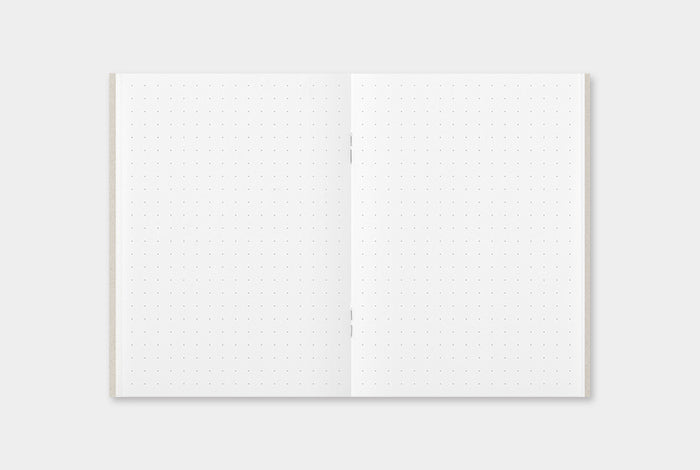 The paper in the Dot Grid refill is the standard, smooth MD paper that is found in other Traveler's notebook refills, with a white finish.
