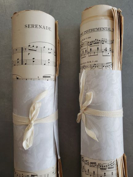 One Pound Scrap Sheet Music Roll- That's right, a roll of randon, vintage sheet music weighing just about 1 pound.