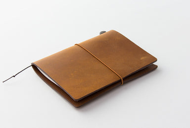 Midori Traveler's Notebook Starter Kit Passport Size Camel is the newest edition to the Traveler's Notebook line.