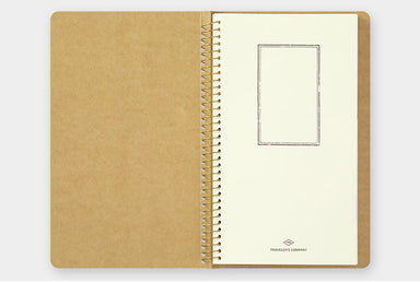 Traveler's Company Spiral Ring Paper Pocket Notebook contains 16 sheets and 32 pockets total.