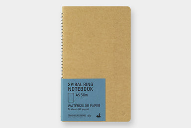 Traveler's Company Spiral Ring Watercolor Notebook- Vertical A5 Slim- the perfect travel companion.