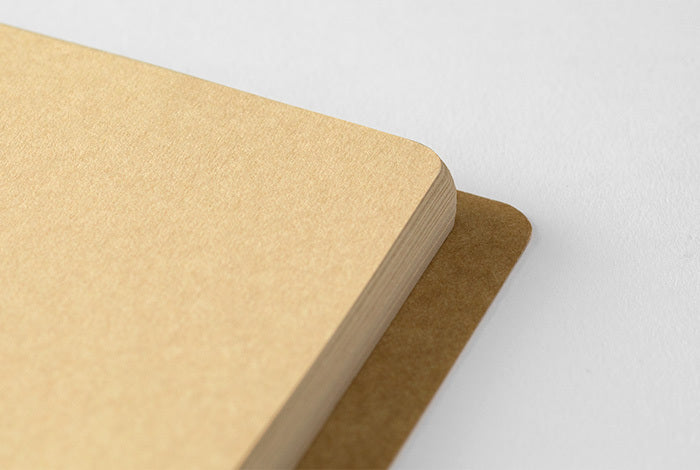Midori spiral B6 notebook features 80 sheet (160 pages) of fine kraft paper.
