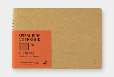 Midori Spiral Ring Notebook- Photo File, Horizontal orientation in B6 size.