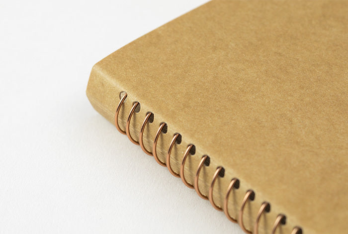 The Midori Spiral Ring Photo File has gold spiral binding.