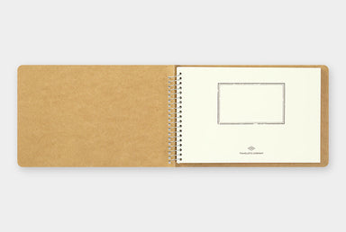 The notebook measures approximately 7.5 by 5 inches (H130 x W193 x D18mm) so it will easily fit in a bag. Hand made in Japan.