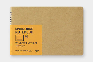 Midori Spiral Ring Notebook- Window Envelope B6 Honeybee.