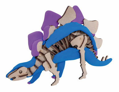 Assembled Stegosaurus size is approximately 3″ x 5″ x 9″