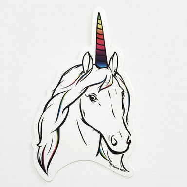Two Hands Made- Unicorn Vinyl Sticker. Unicorns! Who doesn't love them! This shy creature will remind you of the magic in your life.