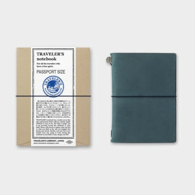 Midori Traveler's Notebook Starter Kit in Blue Passport Size is the newest regular edition to the Traveler's Notebook line.