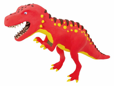 CLAY-DECO T-Rex comes with a set of wooden sheets- the dinosaur skeleton, and multiple colors of clay- the skin and details.