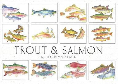 Crane Creek Graphics Trout & Salmon Notecard Folio- set of 12 cards and envelopes